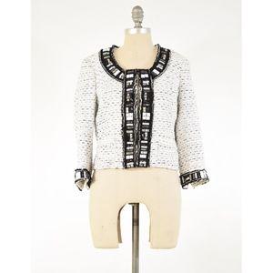 White House Black Market Chanel Type Tweed Blazer